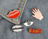 Set of 5 Pieces Lapel Pin Button Badge - Bang Series