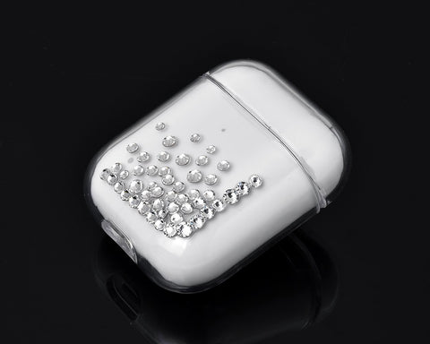 Rubble Bubble Bling Swarovski Crystal AirPods Case - Silver