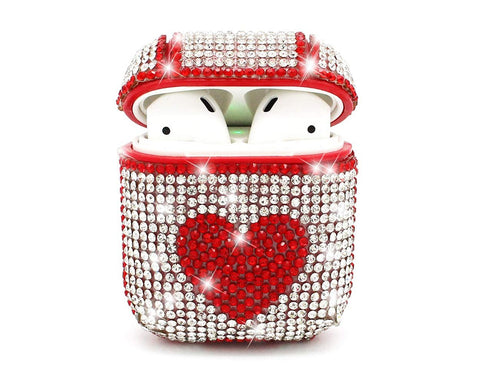 Heart Bling Swarovski Crystal AirPods Case