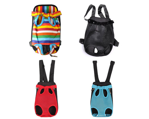 Pet Front Backpack Legs Out Dog Carrier Bag