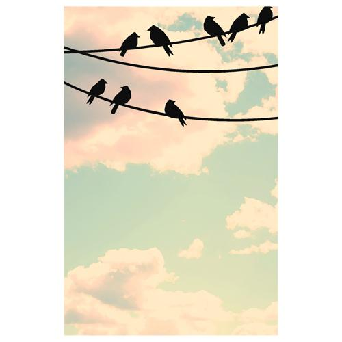 Birds on Wire Designer Phone Cases