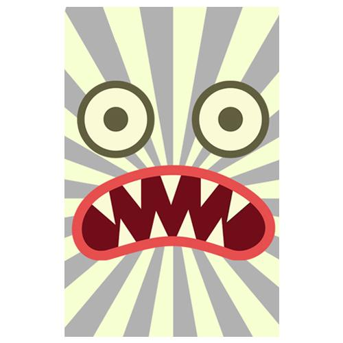 Scary Face Designer Phone Cases