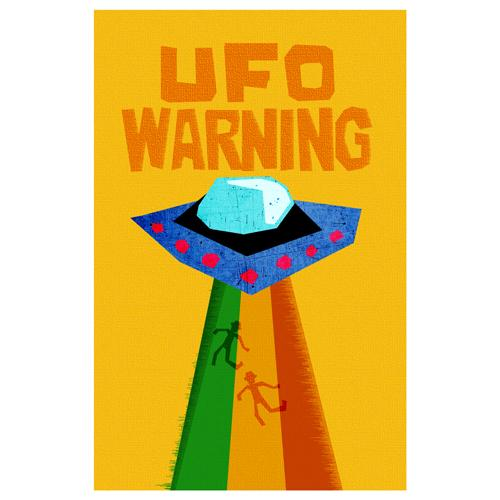 UFO Warning Designer Phone Cases