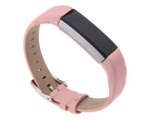 Replacement Leather Watch Band for Fitbit Alta - Pink