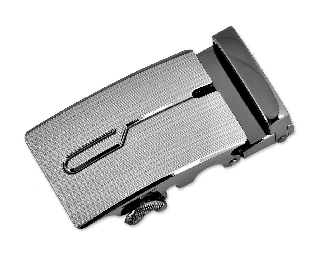 Classic Adult Men Metal Sliding Automatic Belt Buckle - Engrave
