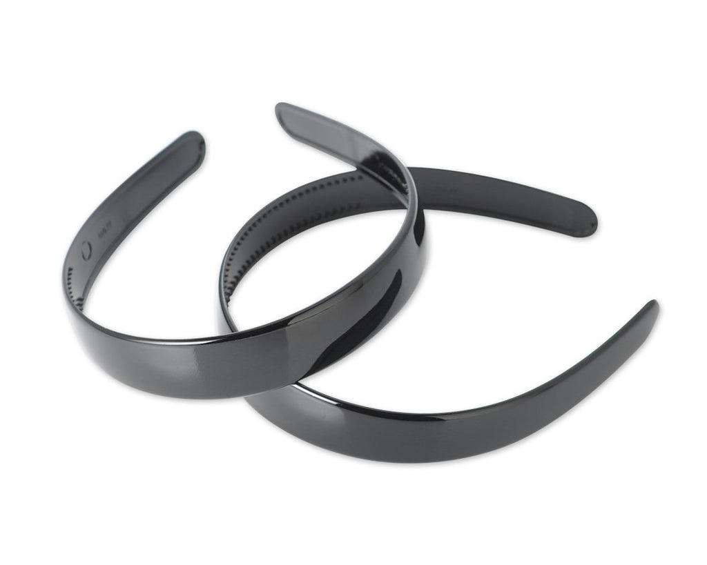 2 Pcs Plastic Scroll Hair Hoop Headband Ornament with Teeth