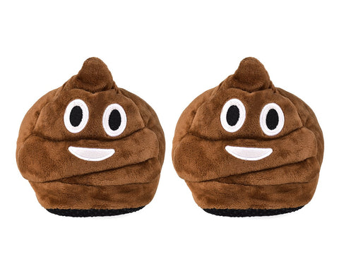 Emoji Soft Plush Slippers Winter Slippers for Kids -  Smiley Poop