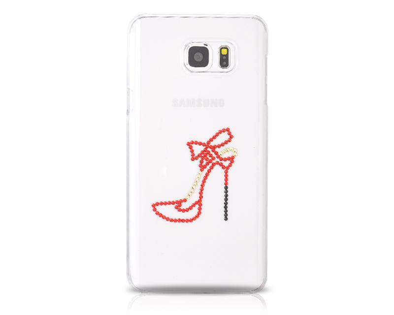 High-heeled Bling Swarovski Crystal Phone Cases - Transparent