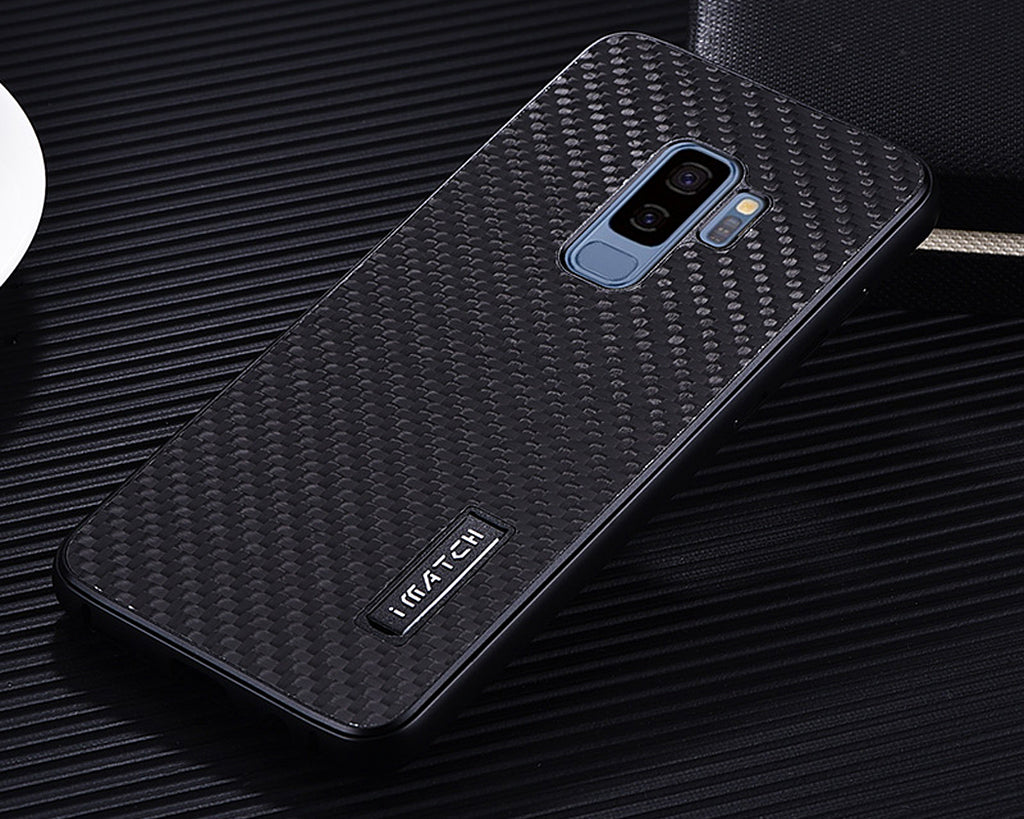 Samsung Galaxy S9 Metal Case with Carbon Fiber Back