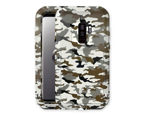 Samsung S9 Plus Waterproof Case Camouflage Shockproof Metal Case