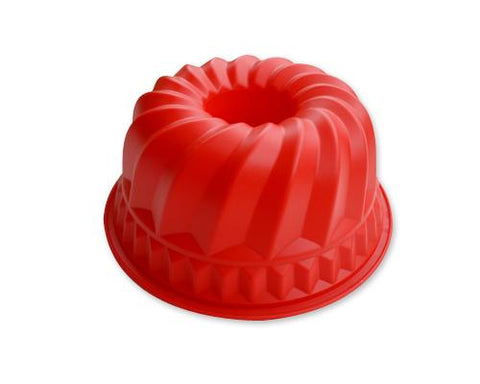 8.6 inches Bundt Pan Silicone Baking Mold - Red