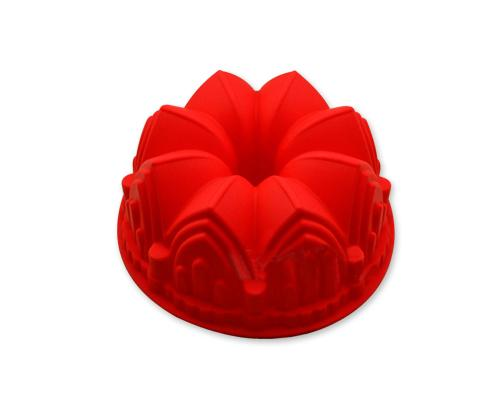 8.6 inches Cathedral Bundt Pan Silicone Baking Mold - Red