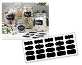 20 Pcs Kitchen Spice Jar Label Chalkboard Sticker Tag - Black