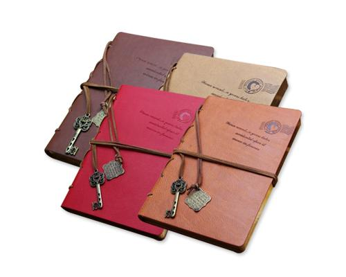 Retro Leather Blank Pages Journal Diary Notebook