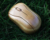 2.4GHz Bamboo Wireless Mouse with USB Receiver
