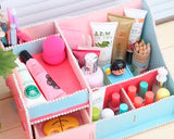Decorative DIY Colorful Pearl Edged Wooden Desk Cosmetic Storage Box