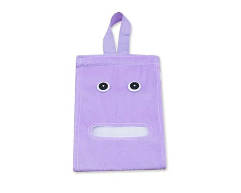Cartoon Plush Toilet Paper Cover - Purple