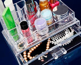 Acrylic Makeup Organizer Jewelry Cosmetic Storage Holder with Drawer