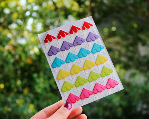 DIY Craft Diary Scrapbook Photo Album Corner Sticker - Colorful Cloud