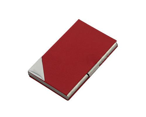 Stainless Steel Business Card Case - Red