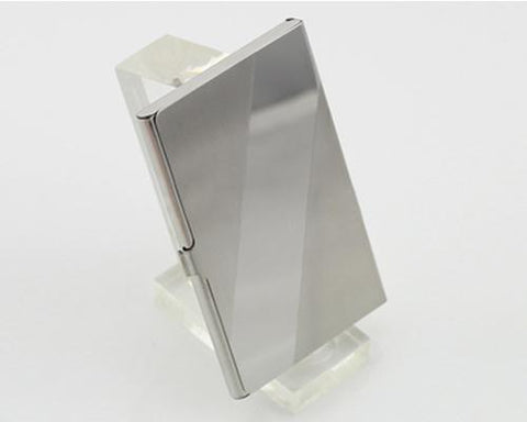 Diagonal Stainless Steel Business Card Holder