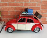 Large Vintage Retro Toy Model Car - Red Beetle Travel Car