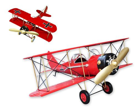 Vintage Boeing Stearman Like Skyway Toy Plane Model - Red