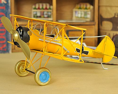 Vintage Boeing Stearman Like Skyway Toy Plane Model - Yellow