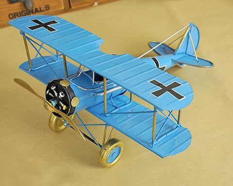 Vintage Boeing Stearman Like Skyway Toy Plane Model - Blue