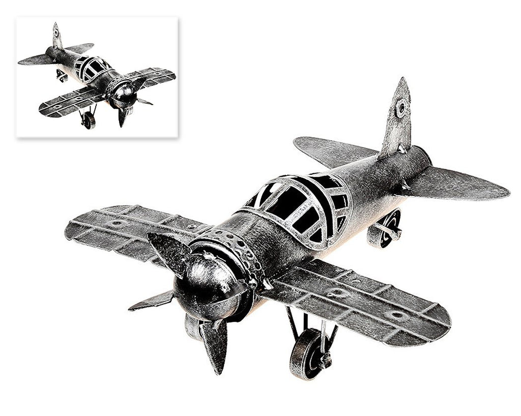 Retro Metal World War II Military Monoplane Toy Model