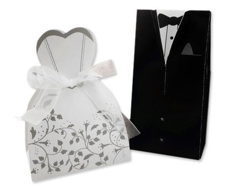 Bride and Groom Wedding Candy Boxes