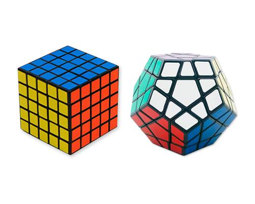 Professional Stickers 5x5x5, Pentagon Megaminx Magic Cube Bundle Set