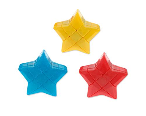 3 Pcs Star Shaped Puzzle 3x3x3 Magic Cube Bundle Set - Red/Blue/Yellow