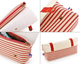 Navy Style Pen and Pencil Case - Red