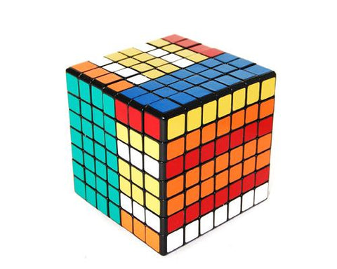 Professional 7x7 Puzzle Speed Magic Cube Glossy - Black