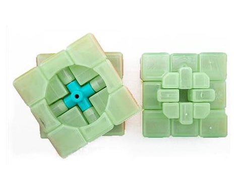 YJ 3x3 Full-Sealing Glow in the Dark Speed Cube - Green