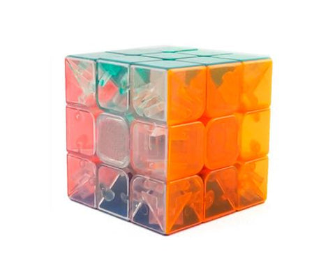 Moyu 3x3 Colorful Stickerless Magic Speed Cube - Transparent