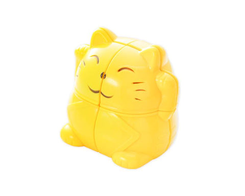 YJ Fortune Lucky Cat 2x2 Puzzle Toy Speed Cube - Yellow