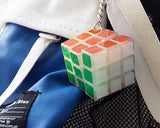 Mini 3x3x3 Luminous Magic Speed Cube Keychain - Transparent