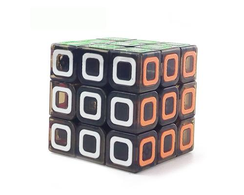 3x3 Transparent Stickerless Magic Speed Cube Puzzles - Brown