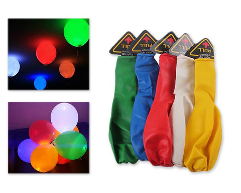 5 Pcs Mixed Colour LED Balloons