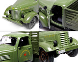 1:36 Alloy Diecast Army Truck Toy Model