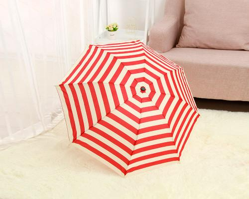 Striped Folding UV Protection Umbrella