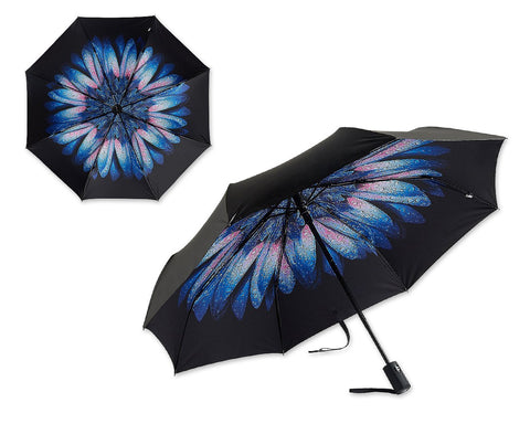 Flower Pattern Compact Travel UV Protection Umbrella