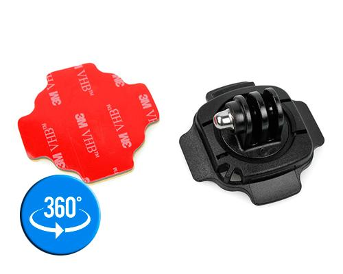 GoPro 360 Degree Curved Surface Adhesive Mount for Hero Cameras-Black