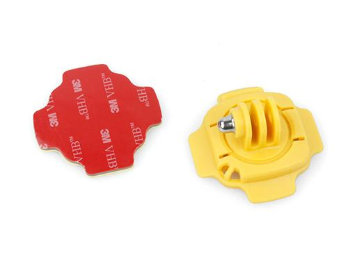 GoPro 360 Degree Curved Surface Adhesive Mount for Hero Cameras-Yellow