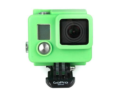 GoPro Silicone Case Cover for Hero 3+ / Hero 3 Plus Camera - Green