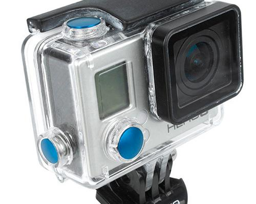 GoPro Aluminum Button Set for Hero 3+ Camera Housing - Blue