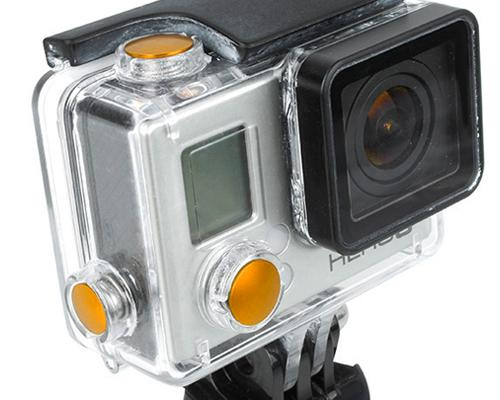 GoPro Aluminum Button Set for Hero 3+ Camera Housing - Gold