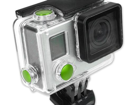 GoPro Aluminum Button Set for Hero 3+ Camera Housing - Green